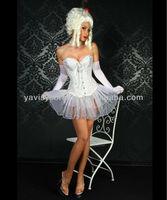white bride plain corset 100% cotton and bustier top pattern women corset