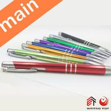 2015 promotional customized metal pen with logo,aluminium pen,cheap metal pen