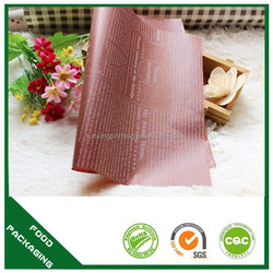 food grade kraft wrapping waxed paper