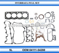 complete gasket kit for hiace 3.0 5L 04111-54280 engine kit auto part