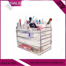 Superior quality custom clear acrylic cosmetic storage display boxes jewelry storage holder