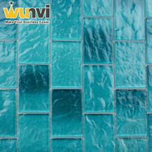 High temperature burn glass tile round mosaic