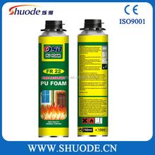 High Expanding CFC Free PU Spray Foam Gap Filler All Season Use