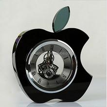 antique crystal desk clock, cute crystal animal clock, wholesale crystal clock
