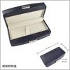 Fashion rectangle logo wooden pen box case white gift boxes