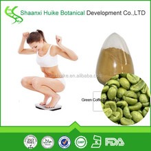 High quality 100% natural green coffee bean extract /chlorogenic acid powder green coffee bean