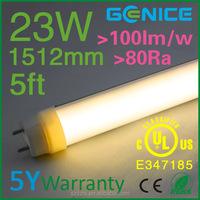 Embedded 4500K 5ft 1500mm T8 LED Tube Light fixtures 23W CRI>80Ra