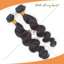 Chinese hair vendors supply full cuticle 100% unprocessed virgin human hair weave