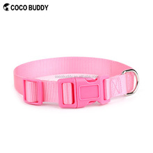 Hot Selling Pink Pure Nylon webbing pet accessories dog collars discount, OEM