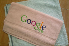 Cotton hand towels with custom brand logo embroidery