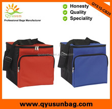 Large capacity insulated beer bottle cooler bag foldable