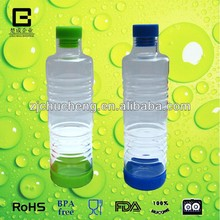 Food grade borosilicate glass water bottle with colourful silicone bottle stopper