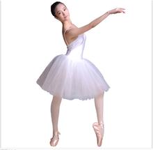 New Women White Ballet Dress Slim Girl Strap Veil Ballet Show Dress