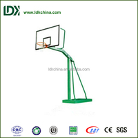 Fitness and recreational stainless steel basketball stand for playgrounds