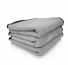 High Density Grey Super Plush Microfiber Towel For Car Care