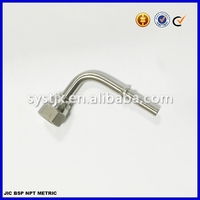 Swaged hydraulic hose end fitting stainless steel fitting