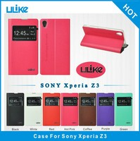 China manufacturing cell phone flip pu leather cute case cover for sony z3 l55t