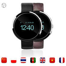 Black & Silver color android Smart Watch phone with Anti-lost and Pedometer function and support Multi Languages