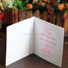 Super quality discount latest oriental wedding card