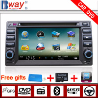 Bway In Dash 2 din Car Video player for Geely VISION HaiJing CAR DVD with GPS Navigation car Radio Bluetooth steering wheel