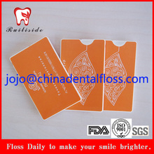 40M Waxed Mint Credit Card Dental Floss WIth Logo