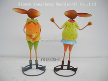 """YS15425-L bright animal metal yard art for home and garden decor size 12.6*6.1*20.47"""""""