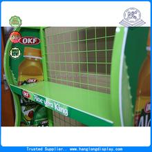 food wholesale wire display racks/retail shop fitting wire display stand/floor wire display for beverage food