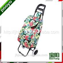 juxin two wheel luggage cart embroidery toy bag polyester