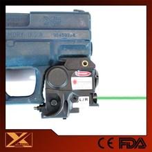 Subcompact pistol hunting green dot laser light plus mini flashlight combo
