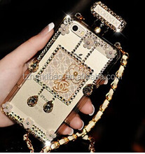 magic mobile phone cases manufacturer with chain and diamond for iphone