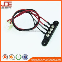 Motorcycle electrical flexible connector battey wire harness