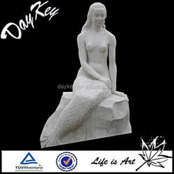 White marble nude figure statue for garden