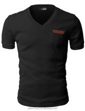 2015 latest wholesale summer fashion mens black t-shirt