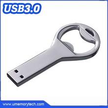3.0 interface usb flash drive bottle opener silver color metal usb bottle opener