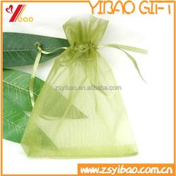 Colorful organza drawstring gift bag for Christmas decoration