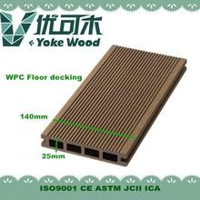 Free Samples Wooden Plastic Composite Hollow Wpc Decking Outdoor Waterproof Wooden Flooring Plastic Outdoor Deck Flooring