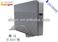 2013 new design!! high quality silver mini ATX computer case