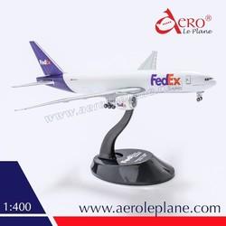 Boeing B777 1:400 FedEx Diecast 2015 Detailed Snapfit Wheels Cargo Model Airplane Supplier Metal Aircraft