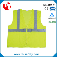 100% Polyester reflective safety vest for adult