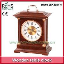 Fashion item quartz wooden fancy table clock