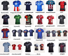 New design good quality short sleeve marvel cartoon super hero T-shirt