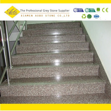 G664 Luo yuan Red Granite Steps, Misty Red granite stone steps for outdoor stairs