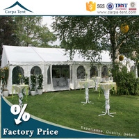 Fireproof canvas aluminium frame tents for party with wooden flooring for hot sale