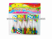 Cartoon paper supplier party toys blow out dragon whistle