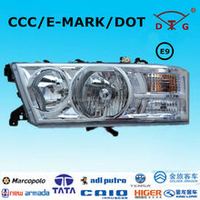 ECE E9 kinglong, faw, best bus head lights for toyota coaster