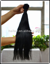 Salon hair extensions supplier virgin Peruvian hair weaves extension black color