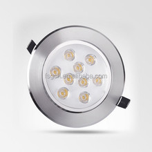 alibaba express sweeping lines with best quality radiator 9w round led downlight
