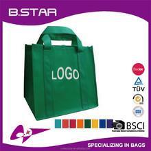 2015 New Designed Promotional custom logo printed reusable Non-Woven foldable shopping bag
