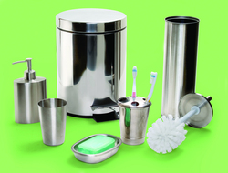 Asia hip stainless steel mirror/ shiny/ chrome bathroom set accessory