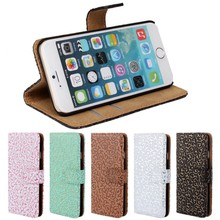 New fasion design pattern leather wallet flip magnetic stand case cover for iphone